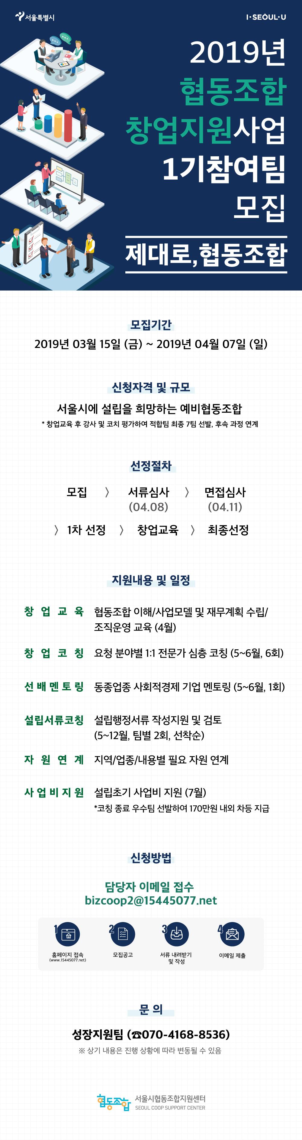 협동조합 창업지원 1기 참여팀 모집(png)