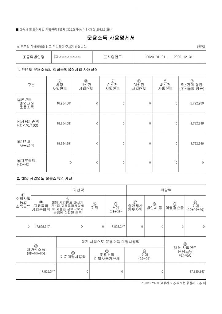 협동조합연구소 출연재산보고서 등_2020_5